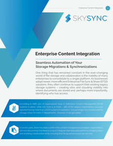 Enterprise Content Integraton:  Seamless Automation of Your Storage Migrations & Synchronizations