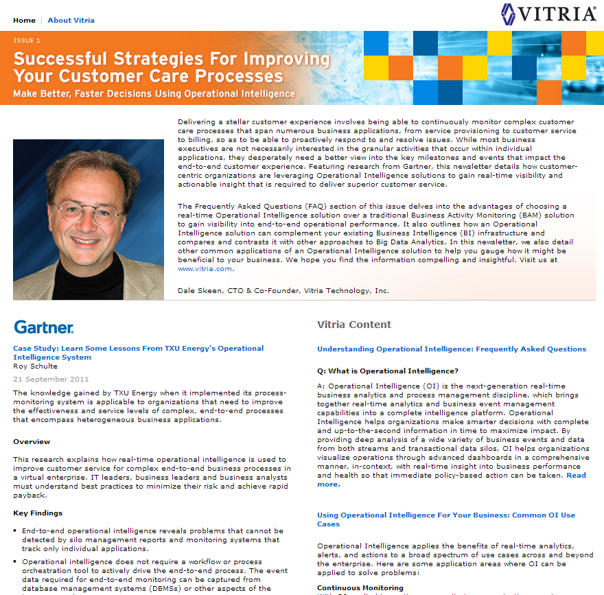 Analyst Research: Successful Strategies for Improving Your Customer Care Process