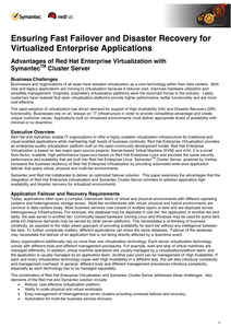 Ensuring Fast Failover and Disaster Recovery for Virtualized Enterprise Applications