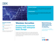 Wanlian Securities: Accelerating Financial Trading with Enterprise Flash Storage