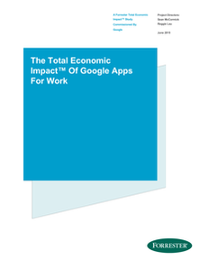 The Total Economic Impact of Google Apps for Work
