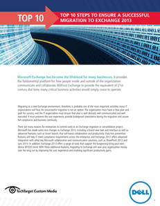 Top 10 Steps to Ensure a Successful Migration to Exchange 2013