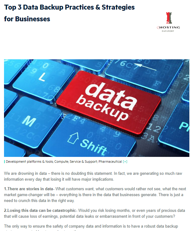 Top 3 Data Backup Practices & Strategies for Businesses
