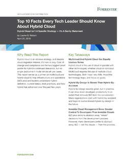 Top 10 Facts Every Tech Leader Should Know About Hybrid Cloud