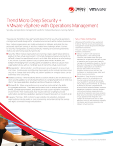 Deep Security & VMware vSphere with Operations Management