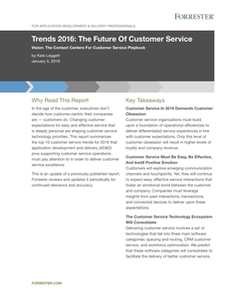 Trends 2016:The Future of Customer Service