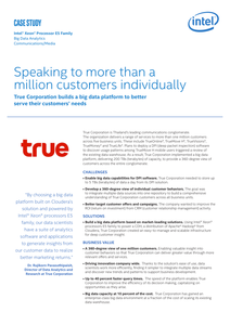 True Corporation: Speaking to More Than a Million Customers Individually