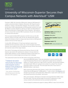 University of Wisconsin-Superior Secures Their Campus Network with AlienVault USM