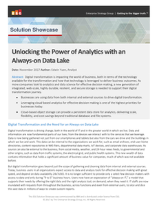 Unlocking the Power of Analytics with an Always-on Data Lake