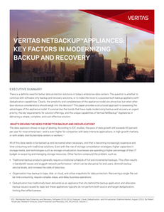 Key Factors in Modernizing Backup and Recovery