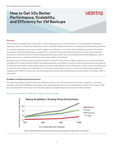 How to Get 10x Better Performance Scalability and Efficiency for VM Backups