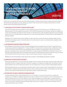 Top 5 Mistakes to Avoid When Backing Up Oracle Databases