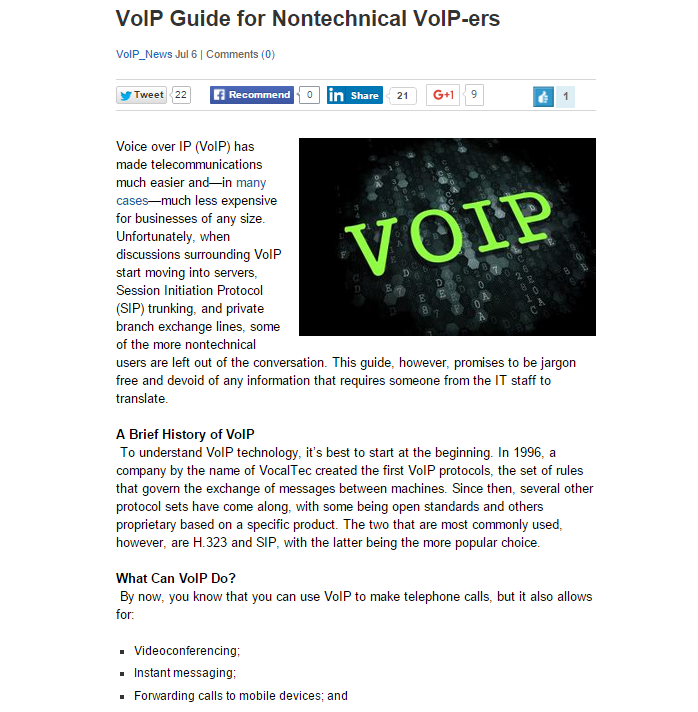VoIP Guide for Nontechnical VoIP-ers