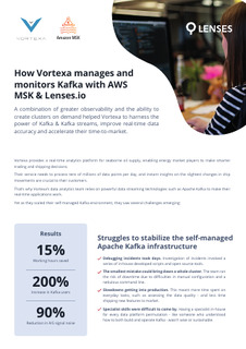 How Vortexa Manages and Monitors Real Time Data with AWS MSK & Lenses.io