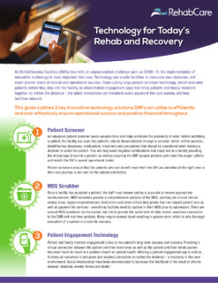 Technology for Today's Rehab and Recovery