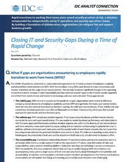 IDC: Closing IT and Security Gaps During a Time of Rapid Change