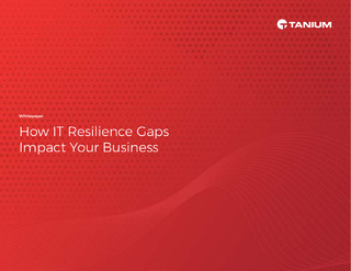 IT Resilience Gap Study: Achieving Resilience in the Face of Disruption