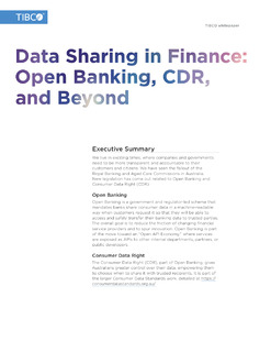 Open Banking: Data Sharing, CDR, and Beyond