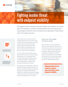 Fighting insider threat with endpoint visibility