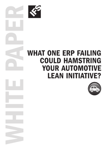 What One ERP Failing Could Hamstring Your Automotive Lean Initiative?