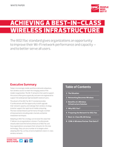 How to Achieve a Best-In-Class Wireless Infrastructure