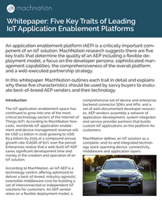 Five Key Traits of Leading IoT Application Enablement Platforms