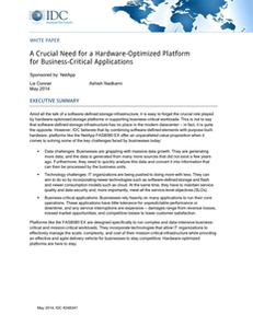 IDC Paper: Hardware Optimized Storage for Business Critical Applications