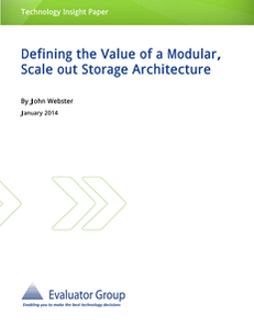 Evaluator Group #3: Defining the Value of a Modular, Scale out Storage Architecture