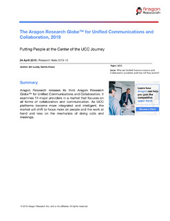 The Aragon Research Globe™ for Unified Communications and Collaboration