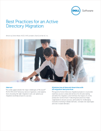 Best Practices for an Active Directory Migration