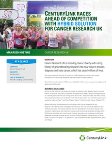 CenturyLink Races Ahead of Competition with Hybrid Solution for Cancer Research UK
