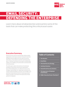 Email Security: Defending the Enterprise