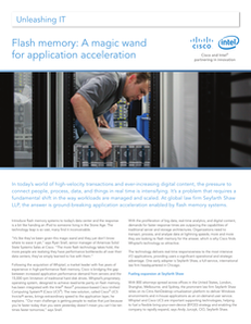 Flash Memory: A Magic Wand for Application Acceleration
