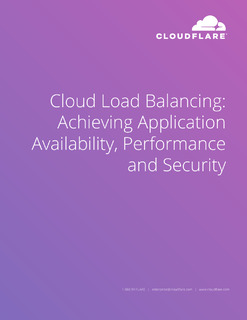 Cloud Load Balancing: Achieving Application Availability, Performance and Security