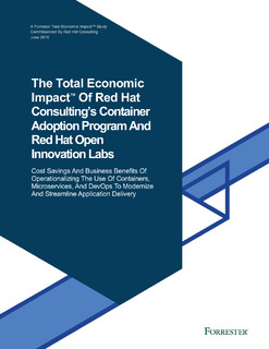 Economic Impact of Red Hat Container Adoption Program & Open Innovation Labs