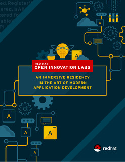 Red Hat Open Innovation Labs: An Immersive Residency in the Art of Modern Application Development