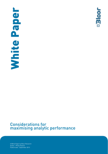 Considerations for Maximizing Analytic Performance