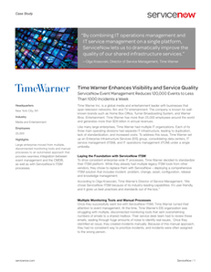 Time Warner Enhances Visibility and Service Quality