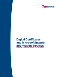 Digital Certificates and Microsoft Internet Information Services