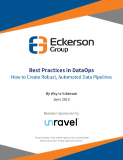 Eckerson Group Report – Best Practices in DataOps, How to Create Robust, Automated Data Pipelines