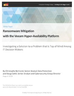 Reduce Ransomware Risks with Veeam Hyper-Availability Platform