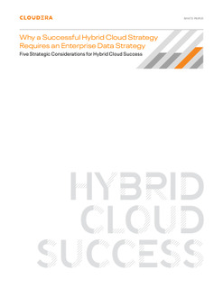 Why a Successful Hybrid Cloud Strategy Requires an Enterprise Data Strategy