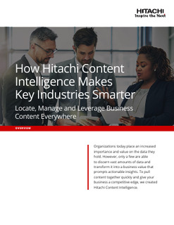 How Hitachi Content Intelligence Makes Key Industries Smarter
