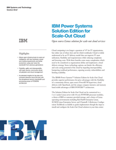 IBM Power Systems Solution Edition for Scale-Out Cloud