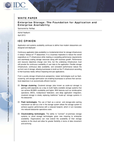 IDC: Enterprise Storage: The Foundation for Application and Enterprise Availability