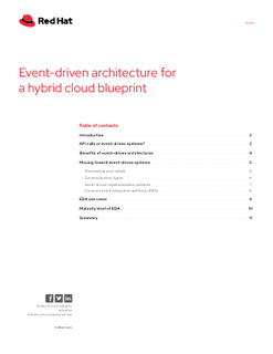 Event-driven Architecture for a Hybrid Cloud Blueprint