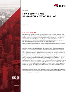 How Security and Innovation Meet at Red Hat