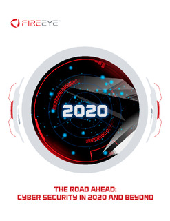 Security Predictions Reports: The Road Ahead: Cyber Security in 2020 and Beyond