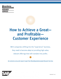 "How to Achieve a Great""and Profitable""Customer Experience"