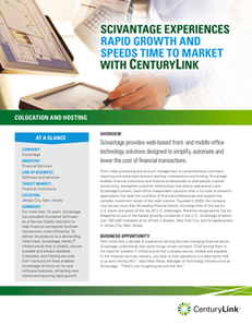 Scivantage Experiences Rapid Growth and Speeds Time to Market with CenturyLink